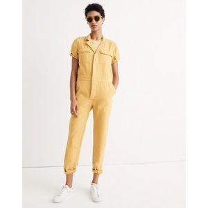 Madewell Short-Sleeve Coverall Jumpsuit